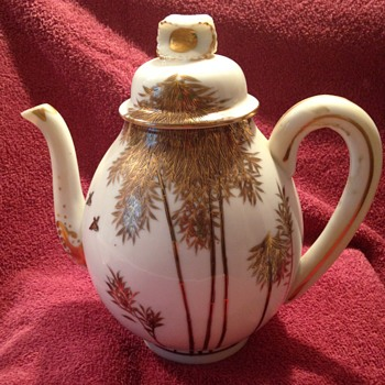 Antique Japanese China Teapot