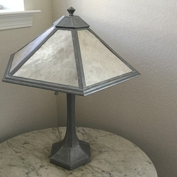 GREY BEDSIDE LAMP