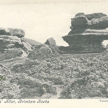 THE DRUIDS' ALTAR, BRIMHAM ROCKS c. 1900 - Postcards