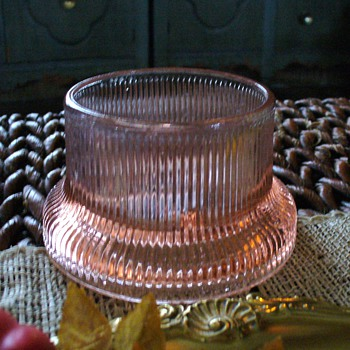 Pink Depression Glass Candleholder or Candy Holder?