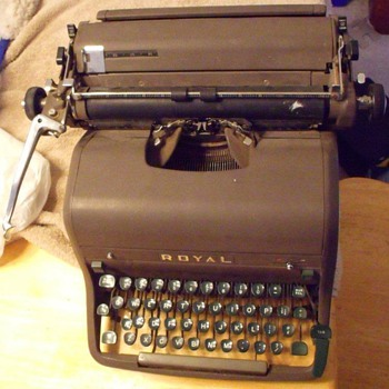 50's Royal Typewriter with Magic Margin, works fine. (pictured) Isn't mine mine is in my shop but in better condition than this
