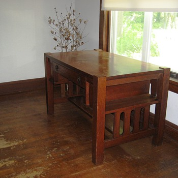 Mission Oak Library Table - Furniture