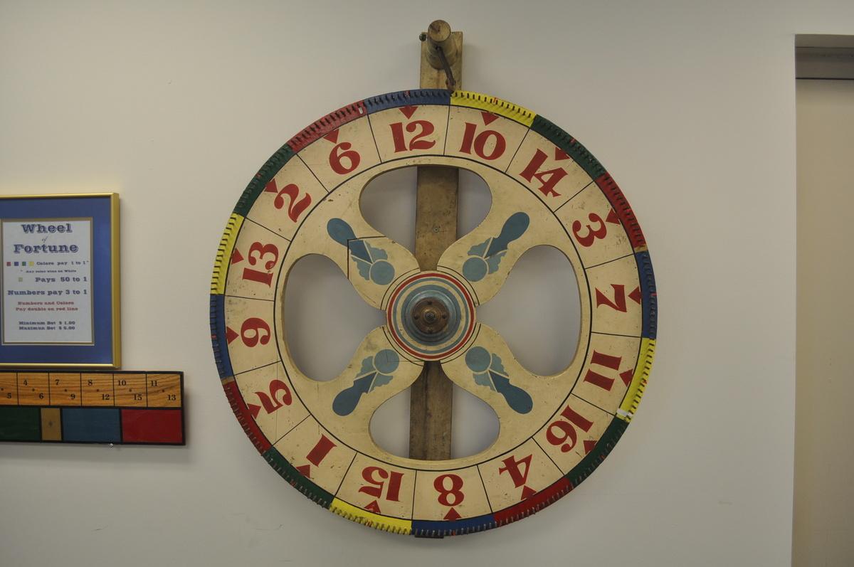 vintage spinning wheel game collectors weekly. Black Bedroom Furniture Sets. Home Design Ideas