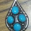 Pendant Southwestern 4 blue Turquoise stones