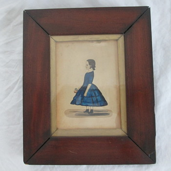 1850 folk art watercolor   J. Kirk ??????? - Visual Art