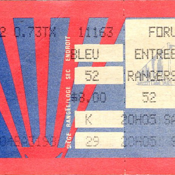 Montreal Canadiens Ticket Stub..the Forum - Hockey