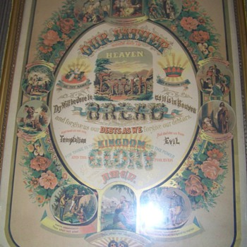 Ten Commandments pic. with the lords prayer cw.1883 - Posters and Prints