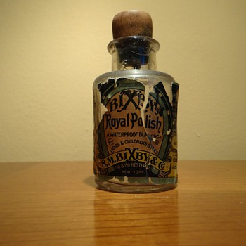 ANTIQUE -S.M. BIXBY &CO. ROYAL POLISH -NEW YORK -USA - Bottles