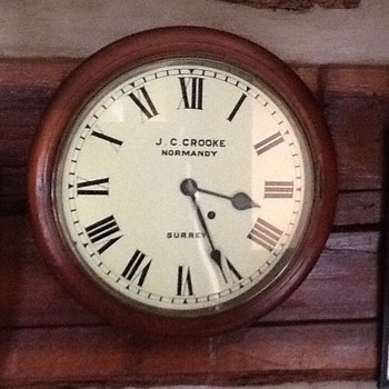 "Can anyone tell me about ( J.C. Crooke ""Normany"") clock named Surrey?"