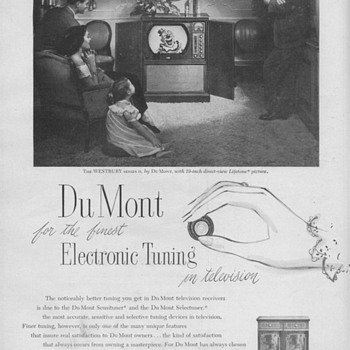 1951 - DuMont &quot;Westbury&quot; Television Advertisement - Advertising