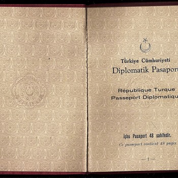 1942 Turkish diplomatic passport