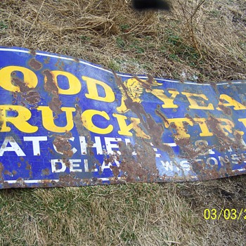 goodyear sign - Advertising
