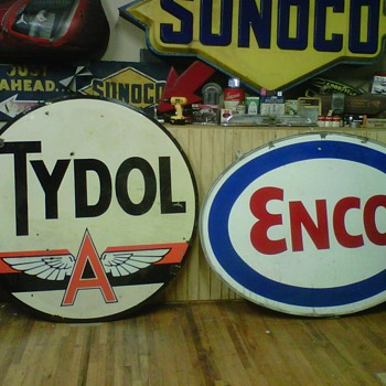 Tydol Sign,Pan am Sign,and Quaker State Sign - Advertising