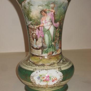 Austria Porcelain Vase 1891-1913 Fischern - Art Pottery