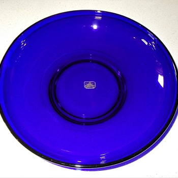 "Viking Glass ""Formal Classics"" ? Cobalt Serving Bowl & Platter/Tray Help I.D. - Glassware"