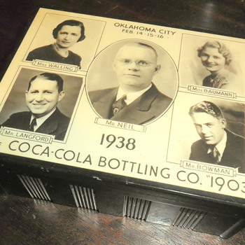 1938 Coca-Cola Bottling Co. Anniversary Cigarette Box - Coca-Cola