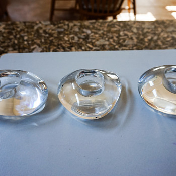 Orrefors Candle Holders - Art Glass