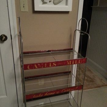 Camel cigarette shelf
