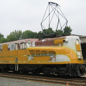 PRR GG-1 #4877, in New Jersey - Railroadiana