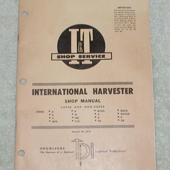 1956 International Harvester Shop Manual - Tractors