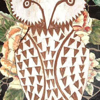 Owl  Bark  - Folk Art