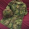 1969 U.S. Marine ERDL Camouflage Jacket and Helmet