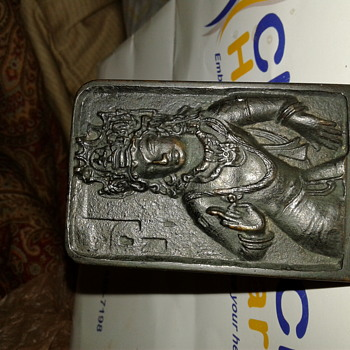 Antique Vajrapani Bombay India Metal Stand-up  - Asian