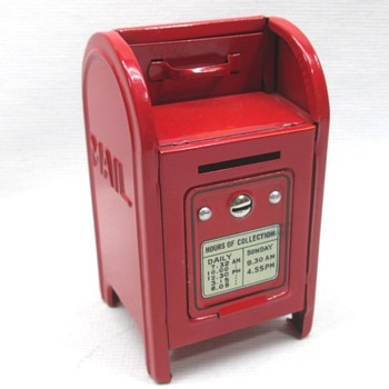 Tin Mail Box Bank - Toys