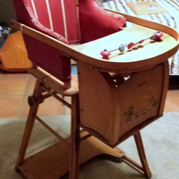 Combo Baby High Chair/Potty/Wheel Walker - Furniture