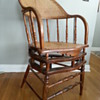 Caned oak fixed leg rocking chair