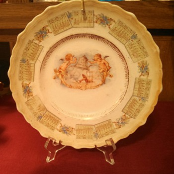 1910 New Years Plate - China and Dinnerware