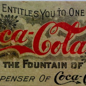 Pre-1900's Coupon:  The Coca-Cola Company    Atlanta, GA. - Coca-Cola