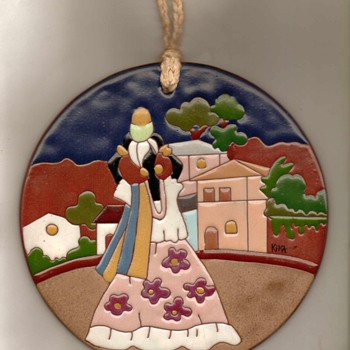 Hand-painted Terracotta Wall Art