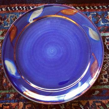 Dilkes Blue Copper Glaze Plate