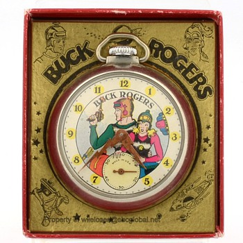 1935 Buck Rogers Ingraham Pocket Watch in Original Box - Wristwatches