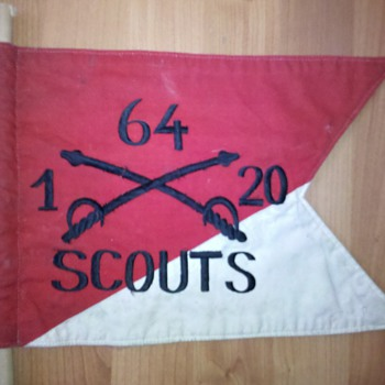 Viet nam era Cavalry Scouts vehicle antenna guidon flag???