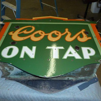 porcelain Coors sign