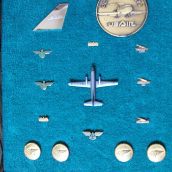 All American Airways--Allegheny Airlines-USAir-USAirways Service Pins, etc