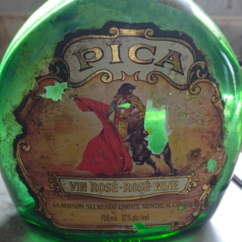 Pica Vin Rose -  Rose Wine Bottle (Montreal Canada)