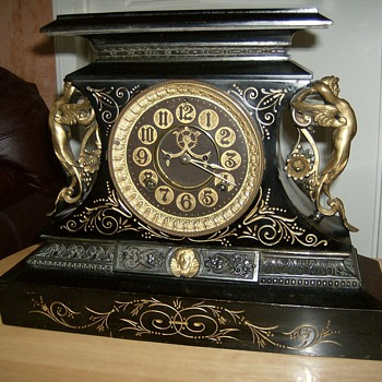 "Ansonia ""Rosalind"" Mantel Clock - Clocks"