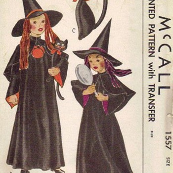 Early 1950s Halloween Witches Costume - Sewing