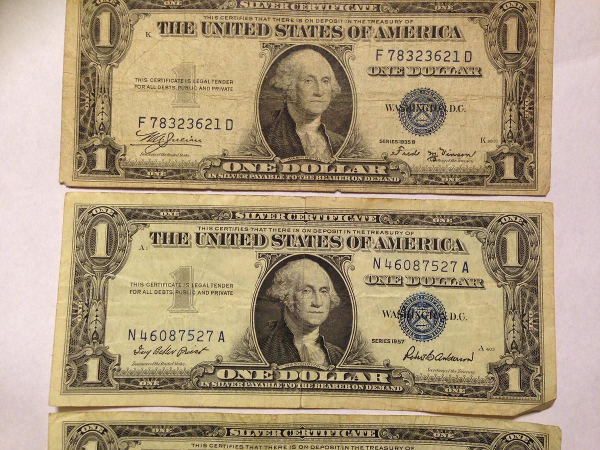 1935E, 1935B u0026 1957 one dollar bills : Collectors Weekly