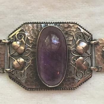 Jugendstil Theodor Fahrner Amethyst Bracelet