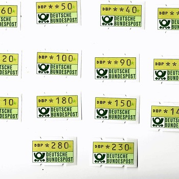 GERMAN VARIALBLE VALUE STAMPS