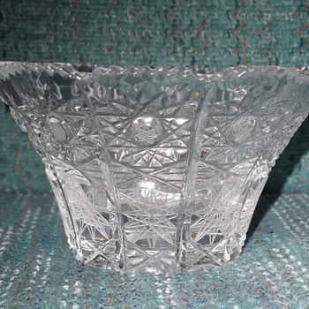 Small Bohemian cut glass bowl