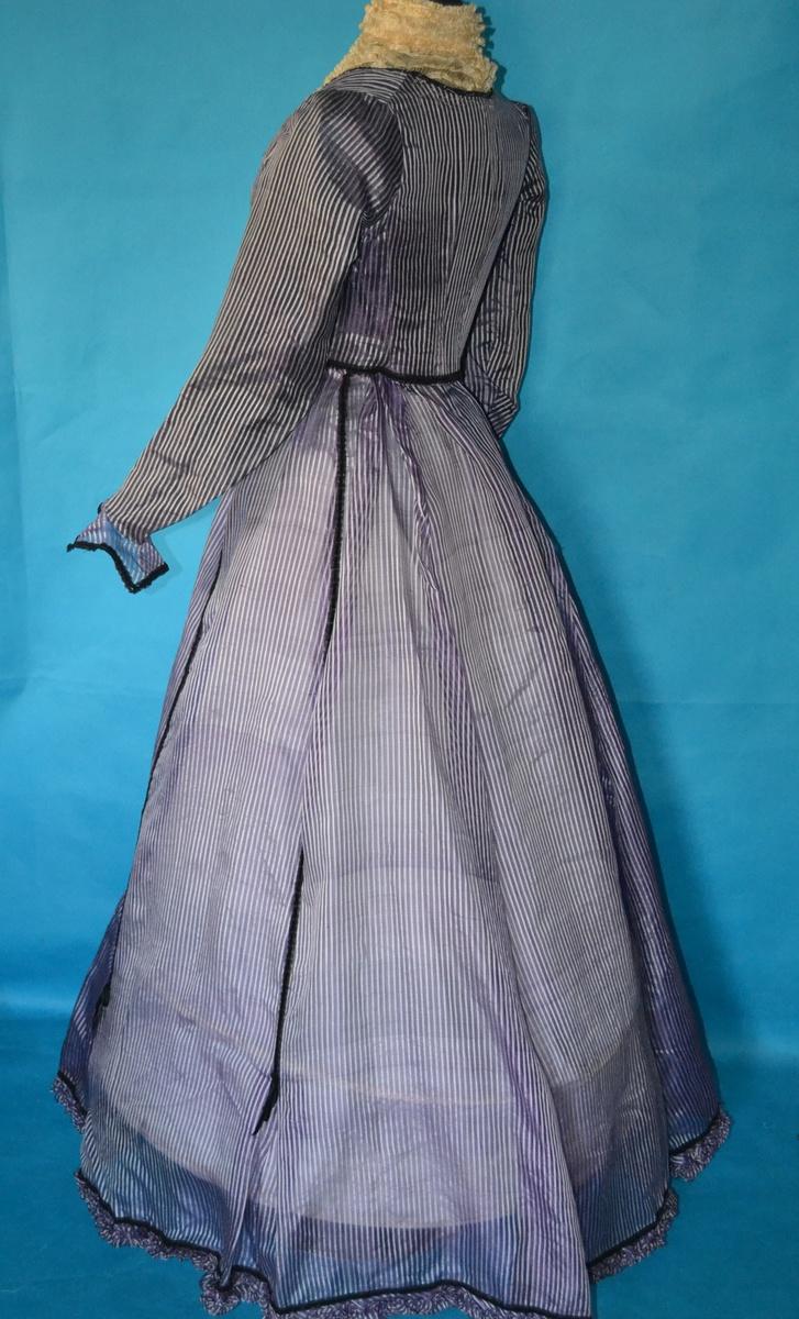 Rare Purple Pinstripe 1800 39 S Victorian Dress Never Worn
