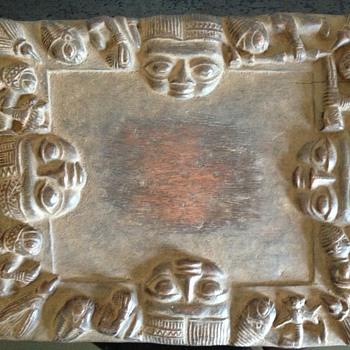 A YORUBA DIVINATION PLATE NIGERIA - Folk Art
