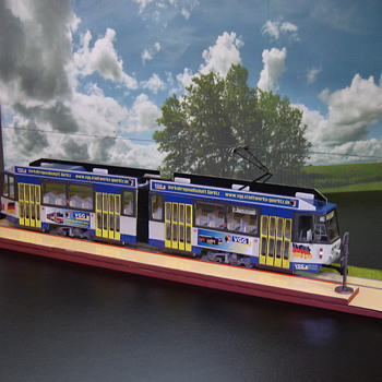 Tatra KT4D scale model tram - Model Trains