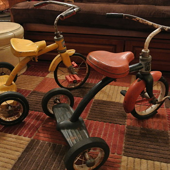 Two Tricycles...Mid '60s Western Flyer ...Early 70's Columbia