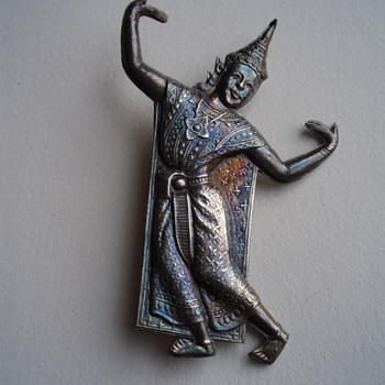 Siam Sterling Dancer Brooch